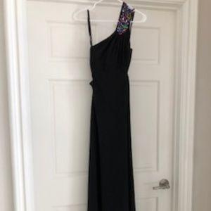 Stacy Sklar One Shoulder Beaded Dress NWT